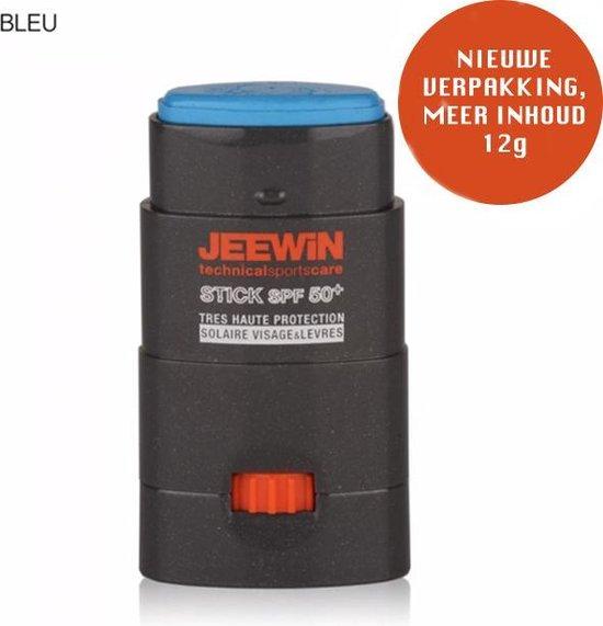 JEEWIN Sunblock Stick SPF 50 - BLAUW | ook geschikt voor bescherming tattoo | Minerale zonbescherming | Trotse sponsor van Sportclub Only Friends