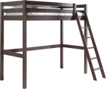 Hoogslaper Lena met schuine ladder – 90×200 cm – taupe