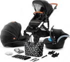 Kinderkraft Prime 3 in 1 Kinderwagen – Inclusief Autostoel – Black
