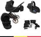 P'tit Chou Novara Black – Complete 3 in 1 Kinderwagen set – Buggy + Autostoel + Incl. Accessoires