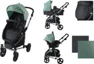 Xadventure Combi Kinderwagen Inspire – Jeans Groen – 8-delig – Inclusief autostoel